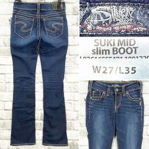 Silver Jeans SUKI Mid Slim Boot W27 L35 Stretch